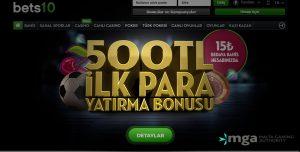Bets10'den Herkese 500TL İlk Para Yatırma Bonusu